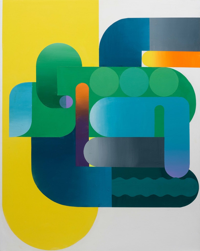 Dialect 1 by Sarah Gee Miller, 2021 Acrylic on Panel - (30x24 in)