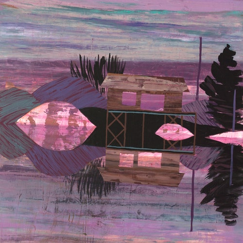 Suddenly Familiar by Meghan Hildebrand, 2021 Acrylic on Panel - (24x18 in)