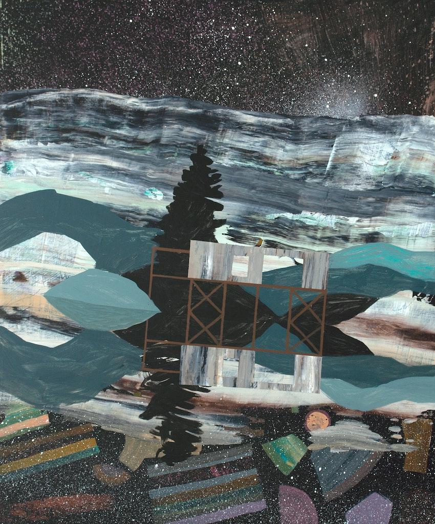 The Splits by Meghan Hildebrand, 2021 Acrylic on Wood - (24x20 in)