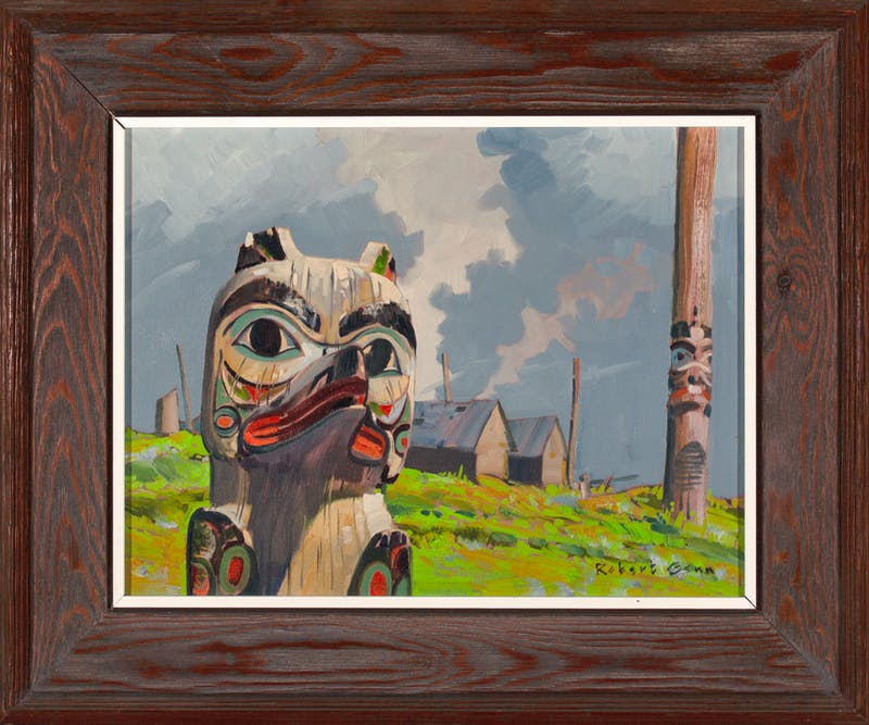 Totem in West Coast Village Image 1