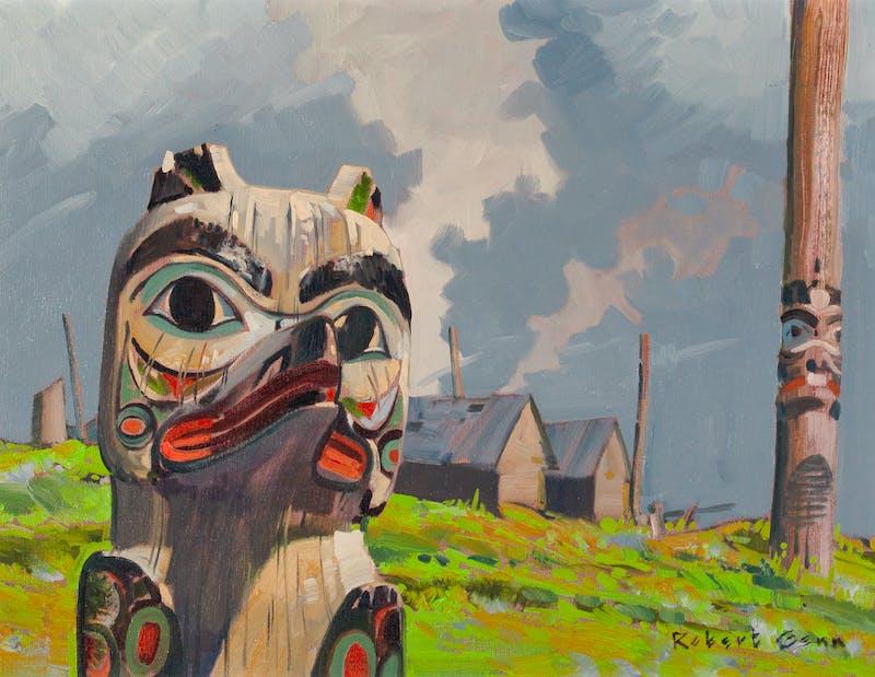 Totem in West Coast Village Image 2