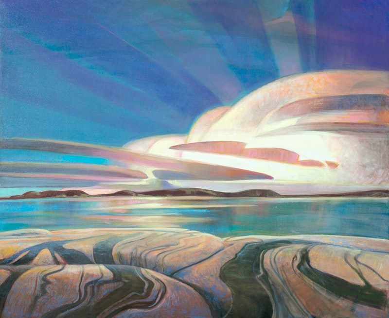 Primordia by Terry Watkinson, 2021 Oil on Canvas - (30x36 in)