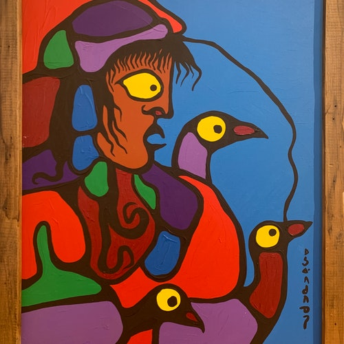 Transfixed by Inner Passions by Norval Morrisseau, circa 1978 Acrylic on Canvas - (30x24 in)