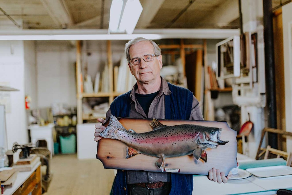 Person, Human, Wood, Fish, Animal, Trout, Plywood, Accessories, Glasses, Accessory, Shelf