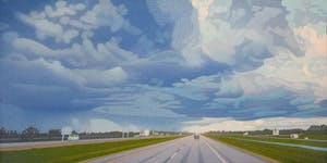 Home From The Lake by Luther Pokrant, 2020 Oil on canvas - (26x52 in)
