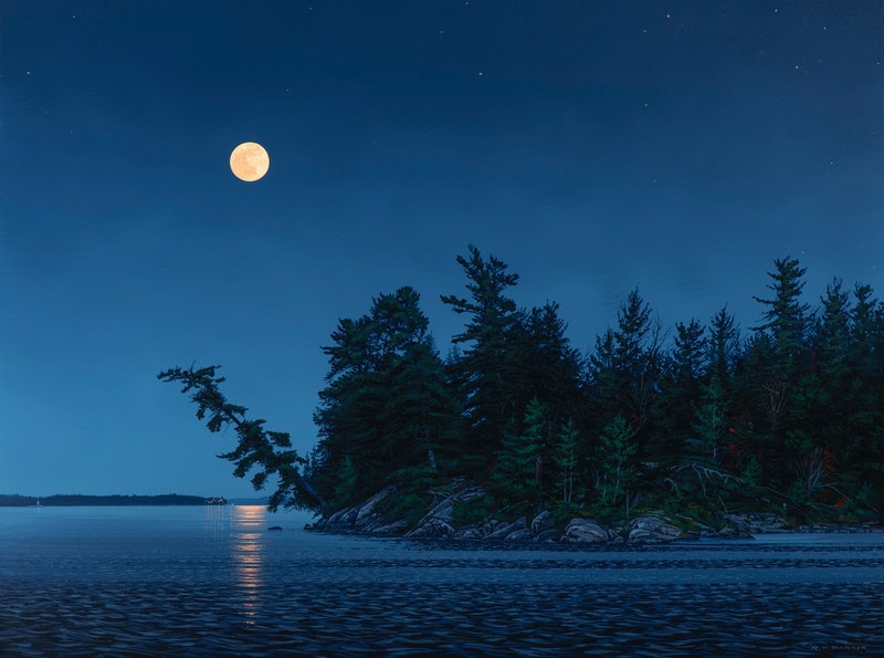 Moonlight Over Lake of the Woods Image 2
