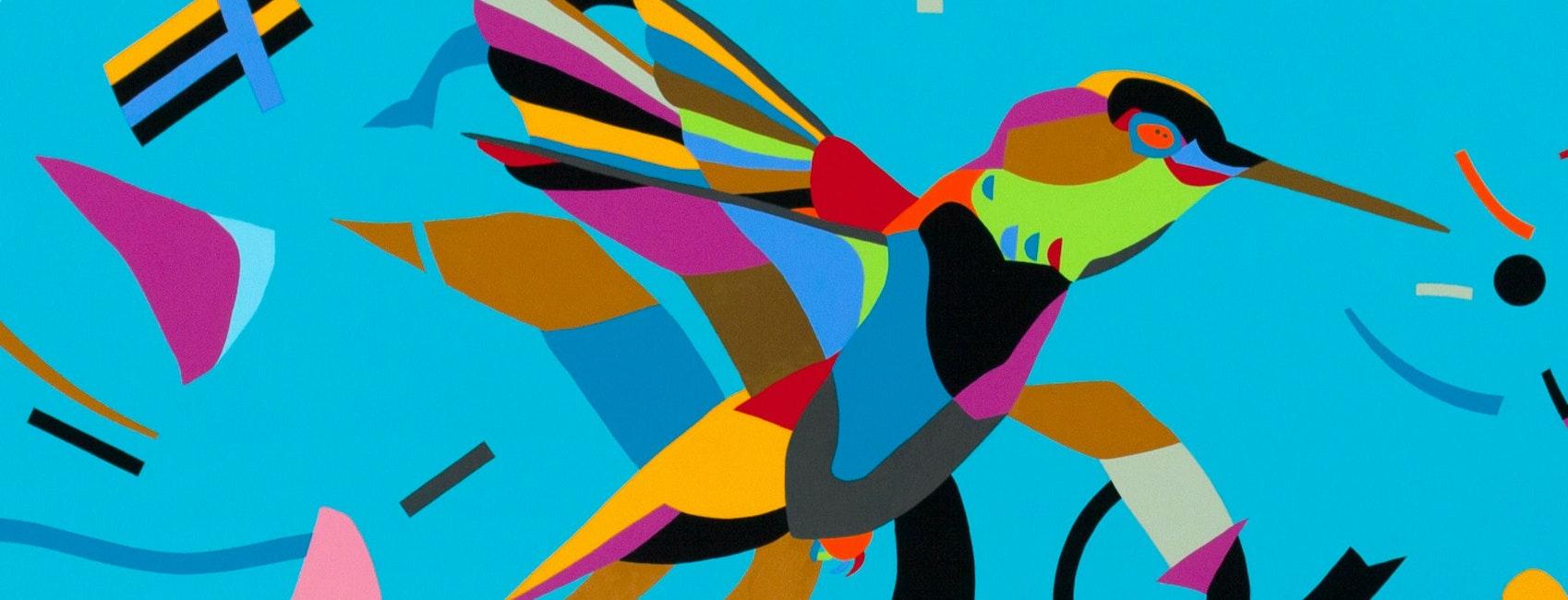 Modern Art, Art, Graphics, Bird, Animal