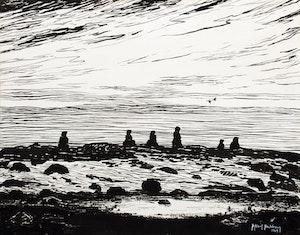 Inukshuks on the Hudson Bay Shoreline– McConnel River, N.W.T.