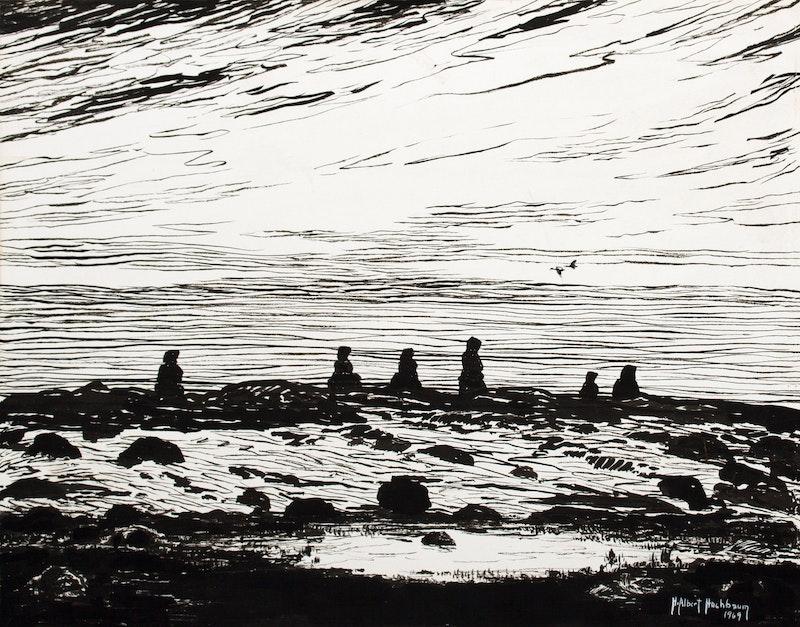 Inukshuks on the Hudson Bay Shoreline– McConnel River, N.W.T. Image 1