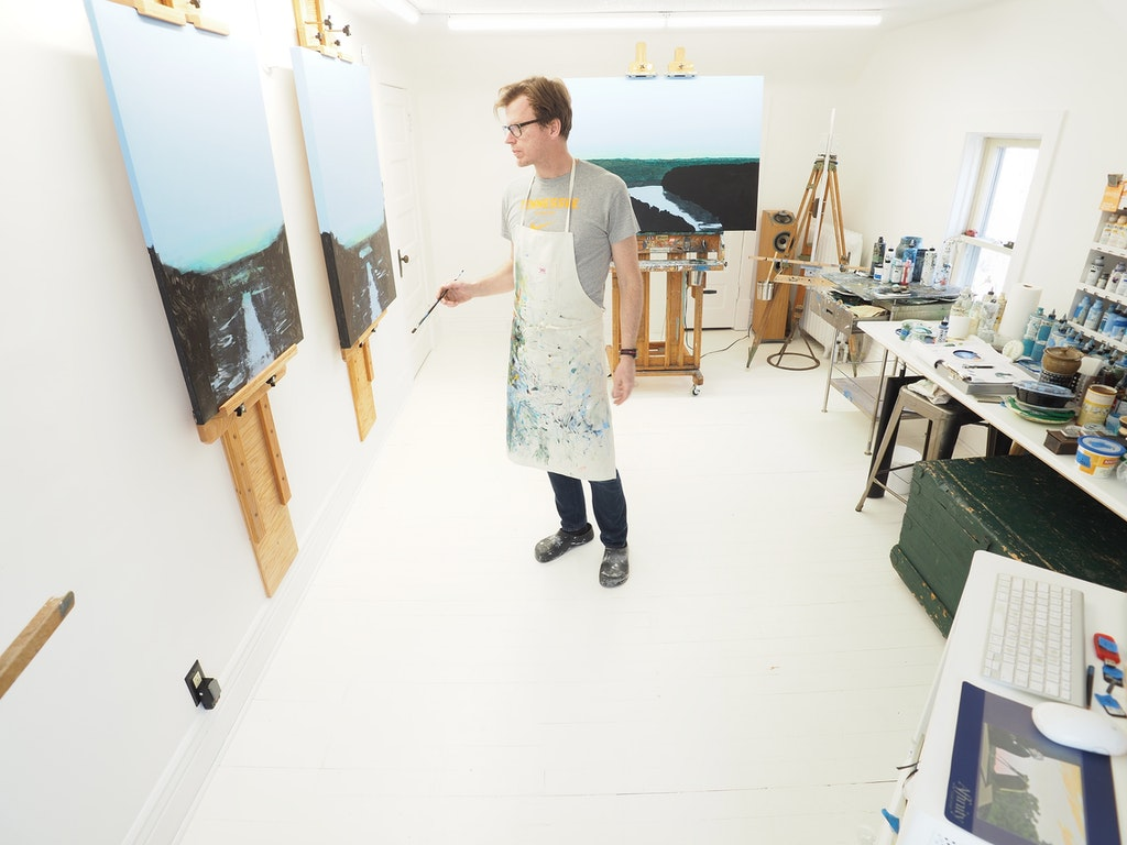 Sean William Randall in studio