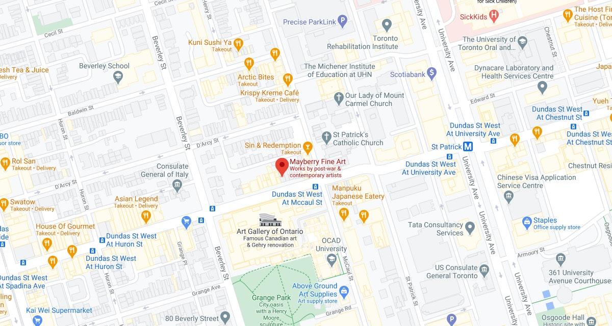 Google Maps Mayberry Fine Art Toronto Location
