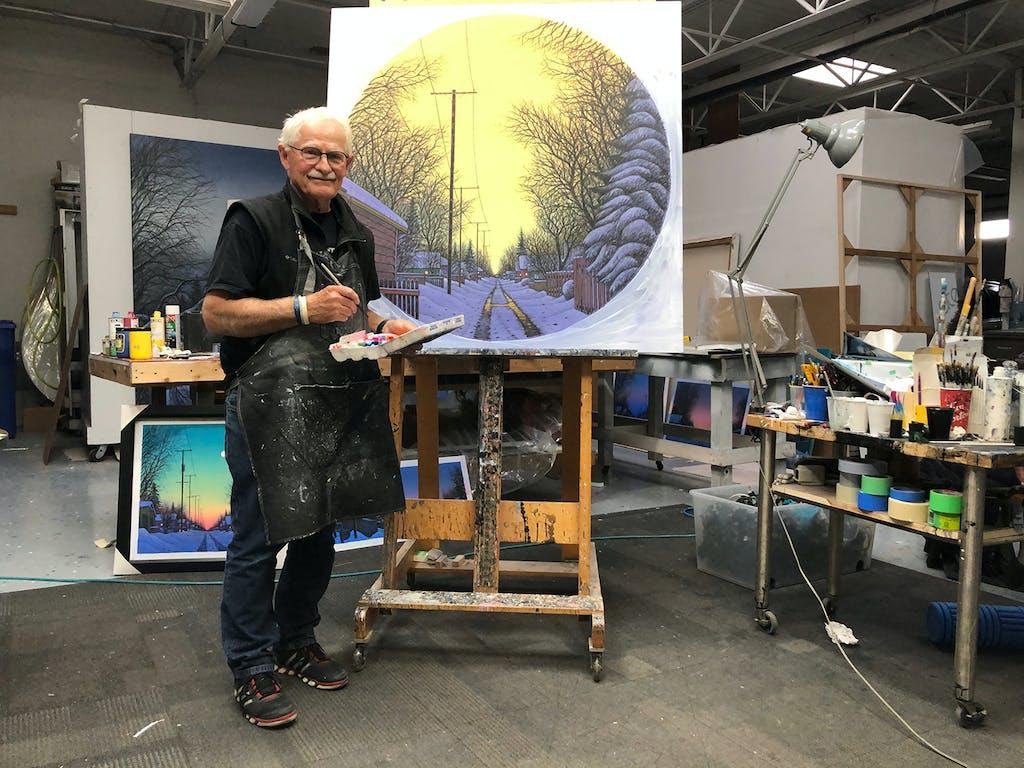 Wilf Perreault in Studio